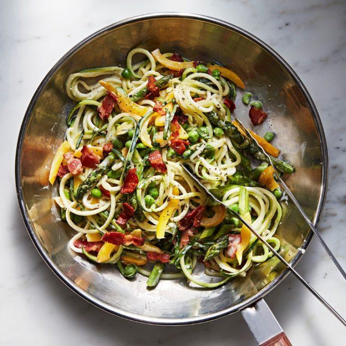 sayuran microgreen menjadi pasta